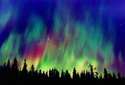 Polární záře nad Aljaškou