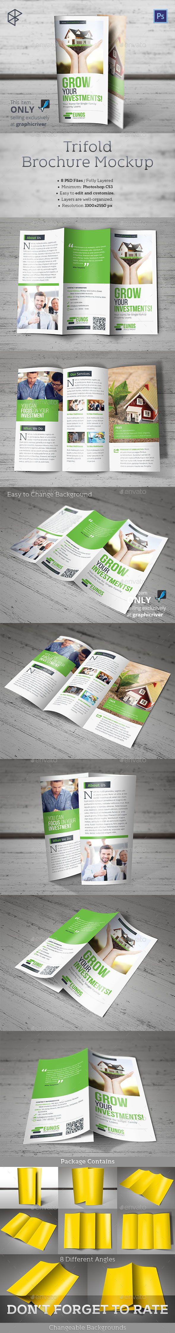 Trifold Brochure Mockup #design Download: http://graphicriver.net/item/trifold-brochure-mockup/12842473?ref=ksioks