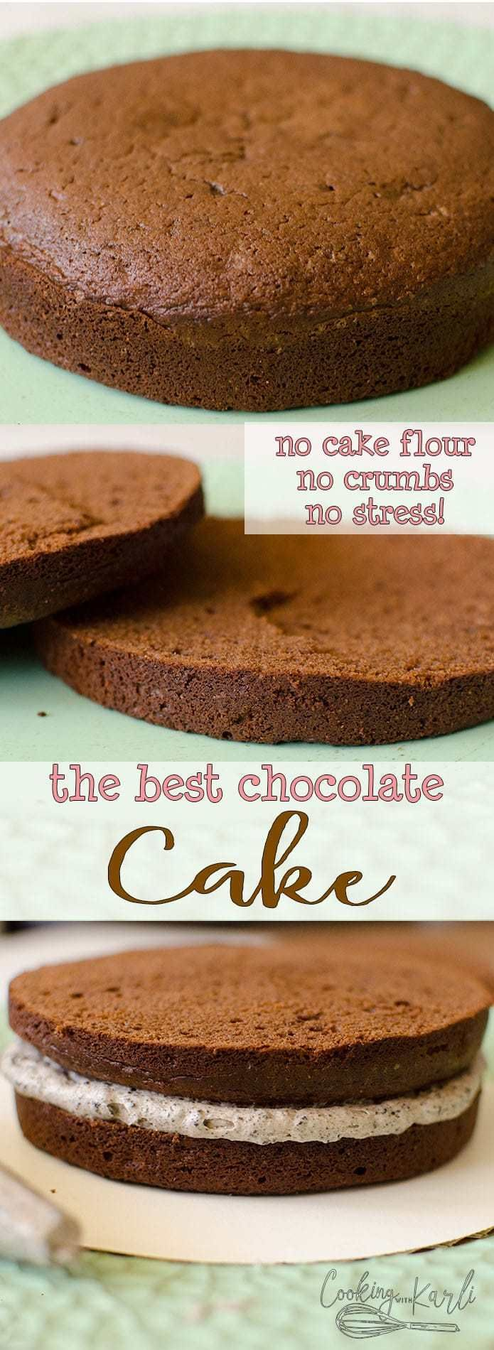 The Best Chocolate Cake is perfect base for layering, frosting and decorating! T… – recipes