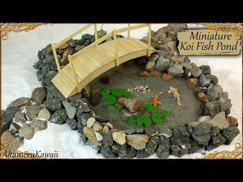 Miniature koi fish pond polymer clay resin tutorial my for Mini koi pond
