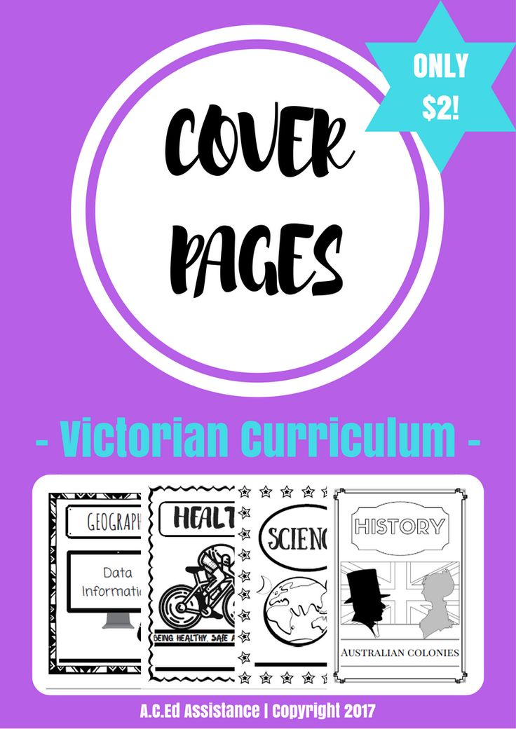 COVER PAGES:These cover pages have been created for the Victorian Curriculum Levels 5-6 in the following areas:Geography - Place, Space and InterconnectionGeography - Data InformationGeography - Factors...