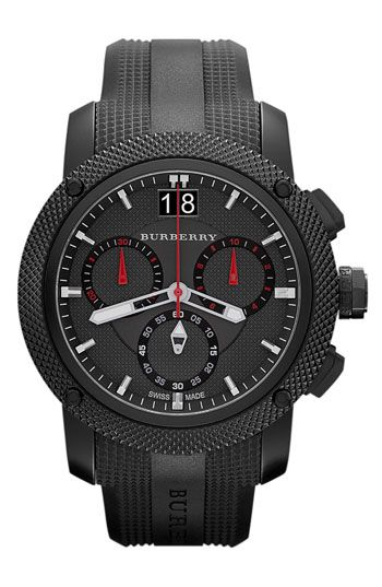 Burberry Chronograph Rubber Strap Watch | Nordstrom