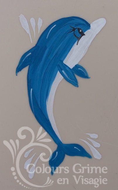#Schminkvoorbeeld #dolfijn stap voor stap