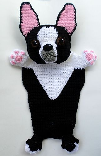 Boston Terrier Blankie Crochet Pattern