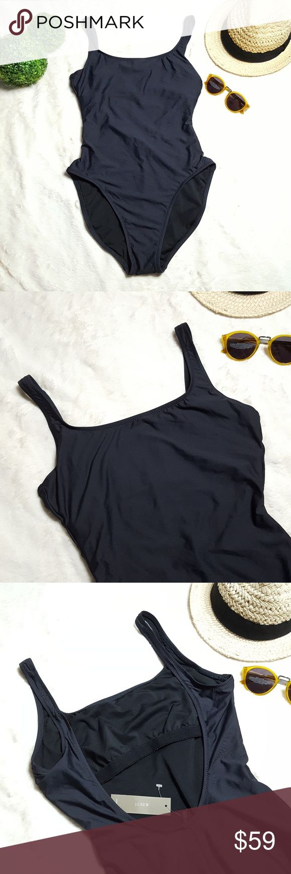 NEW J.Crew Scoopback One-piece Swimsuit New with tags. The best selling swimsuit is back, Resurrected from the J.Crew archives, this sexy '90s throwback is ready for the water. Dark charcoal in color with Hygienic liner still intact. This item is specially designed for women size 8 with long torso (LT). Comes from a smoke-free and pet-free home. Bundle for discounts and reasonable offers are always welcome.   85% Tactel Polyamide/15% Elastane Lining 79% Polyester/21% Elastane. J. Crew Swim…