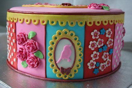 Pip studio style birthday cake - by Tamataartje @ CakesDecor.com - cake decorating website