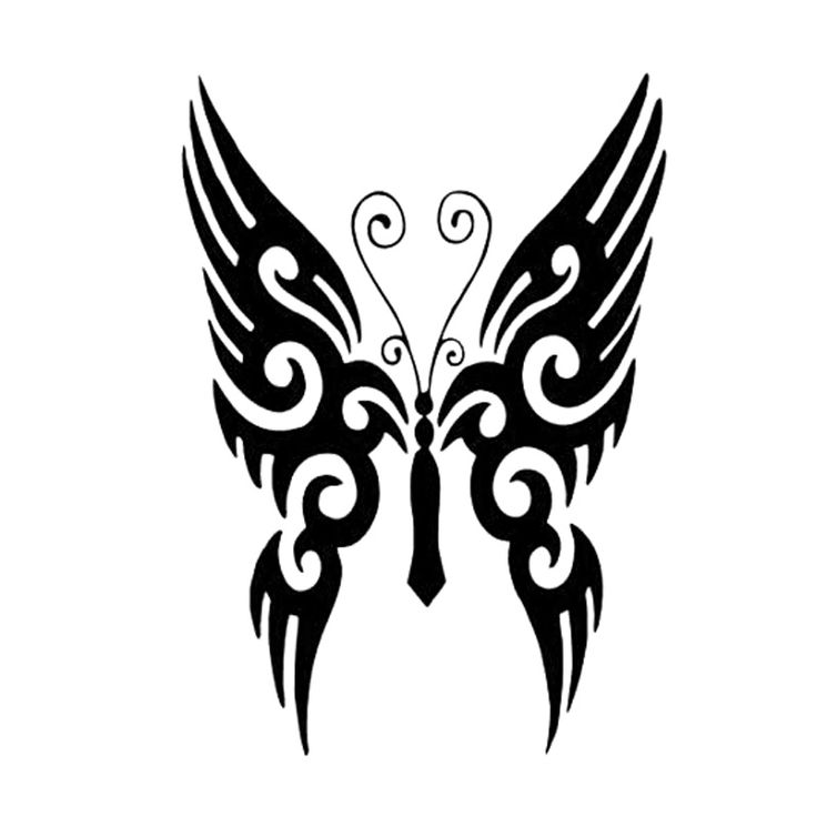 tribal butterfly tattoos - 736×736