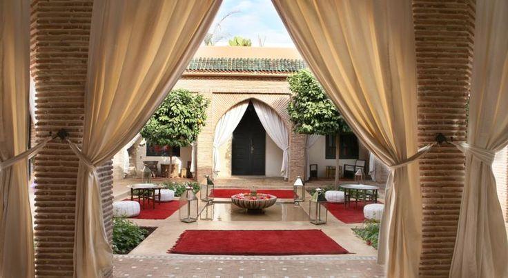 泊ってみたいホテル・HOTEL モロッコ>マラケシュ>オリカバレーへつづく通りに位置し、アグダル庭園から2km>リヤド ジャワード(Riad Jawad)