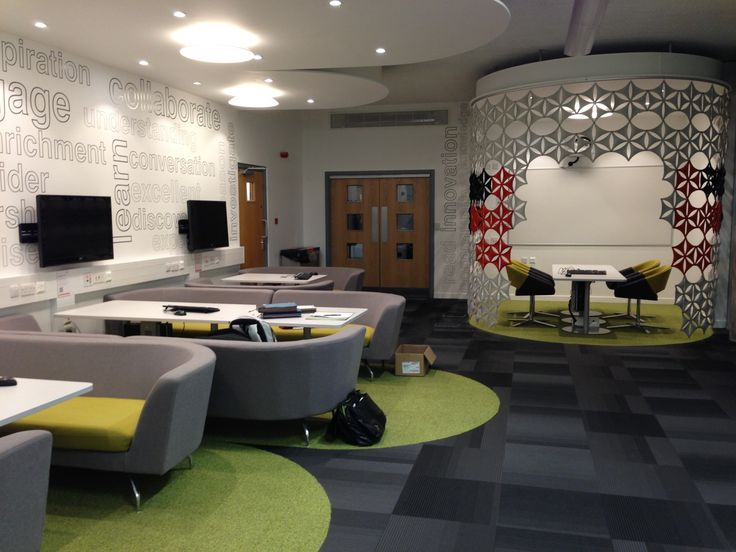 Teeside University with Orangebox Cwtch sofas and Pace chairs & Abstracta Airflakes.