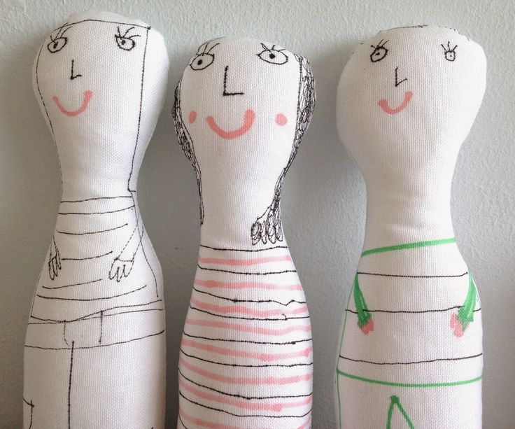 Jane Foster Blog: More hand illustrated fabric figures with my daugh...