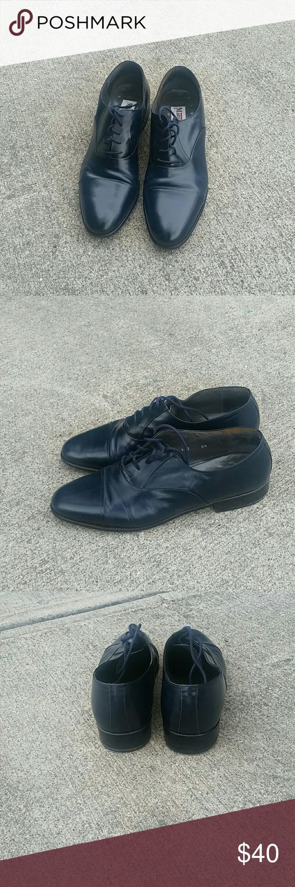 Navy blue dress shoes Navy blue dress shoes gently worn Mario bruni Shoes
