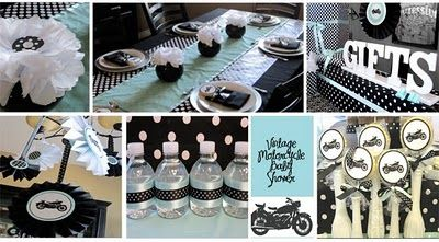 LUX EVENTS AND DESIGN : Vintage Motorcycle Baby Shower