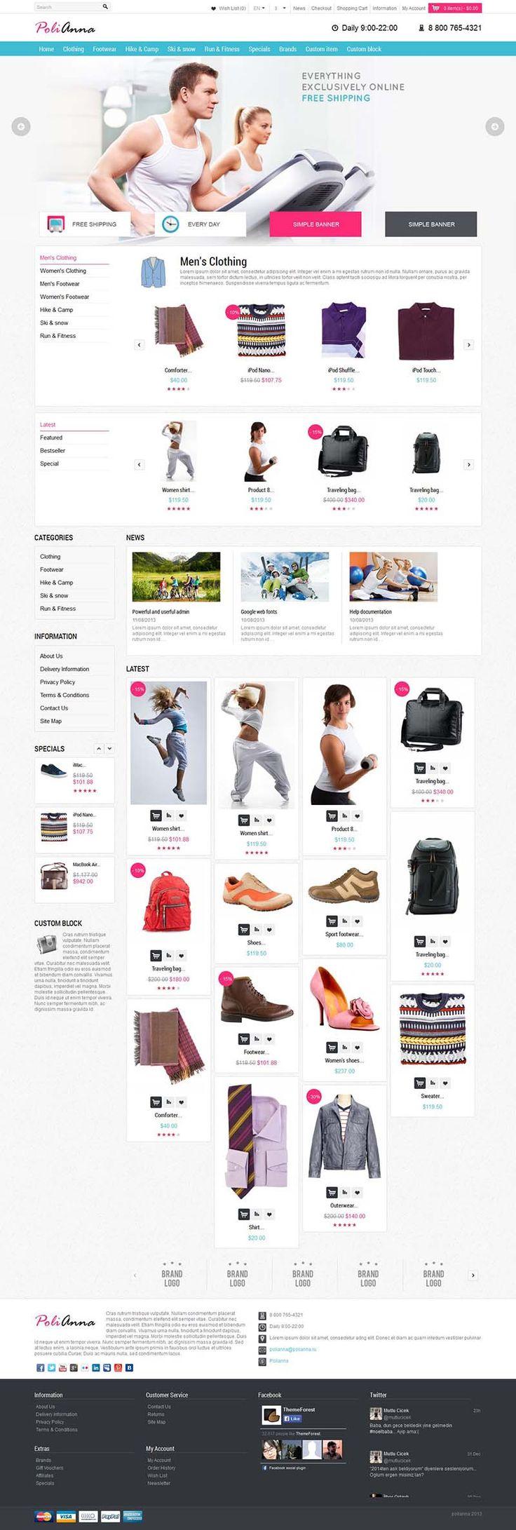 Polianna - Responsive #OpenCart Fashion Store Theme http://www.themesandmods.com/opencart/polianna/