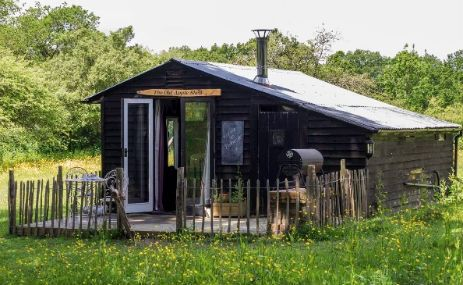 The beautiful and comfortable Old Apple Shed in Kent is the perfect place to cosy up for a romantic getaway.