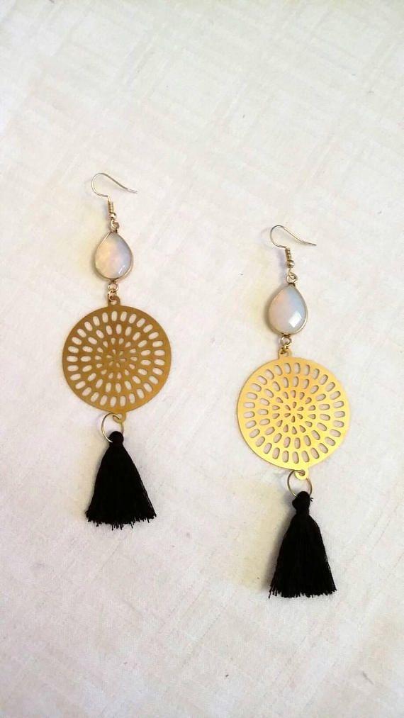Moonstone earrings /all time season / long earrings/ gold