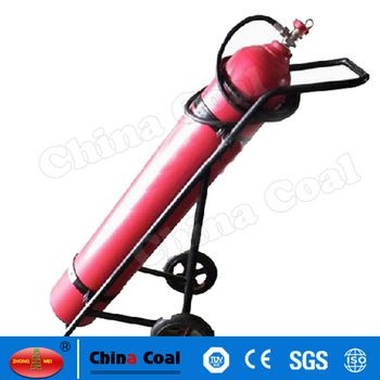 chinacoal03 MS-FE-02 Small CO2 Fire Extinguisher Carbon Dioxide extinguishers are filled with non-flammable carbon dioxide gas under extreme pressure. You can recognize a CO2 extinguisher by its hard horn and lack of pressure gauge. The pressure in the cylinder is so great that when you use one of these extinguishers, bits of dry ice may shoot out the horn. CO2 cylinders are red and range in size from 5 lbs to 100 lbs or larger. In the larger sizes, the hard horn will be located on the end…