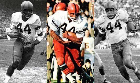 Ernie Davis,Floyd Little and Jim Brown