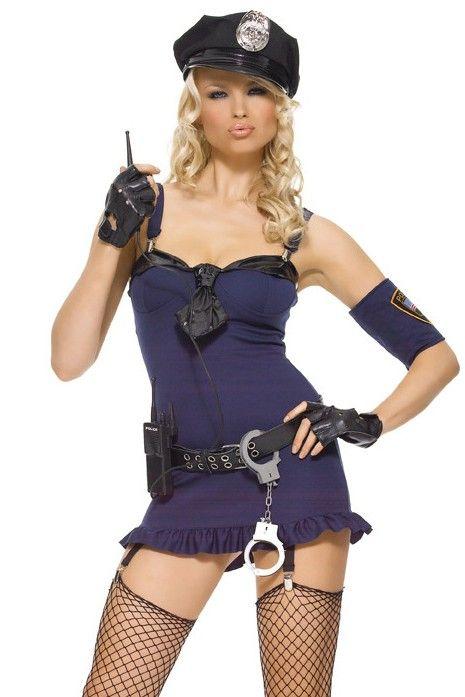 Sexy Purple Hottie Police Costume