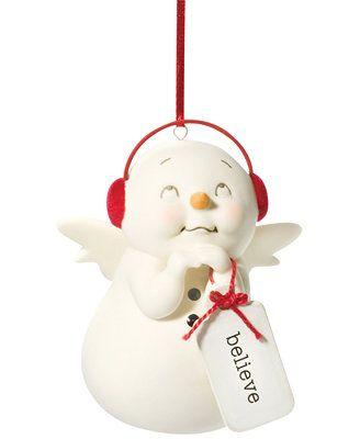 Department 56 Snowpinions Believe Snowman Ornament