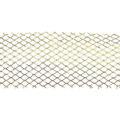 Guldfärgat band av 56% metallfiber, och 44% polyester.