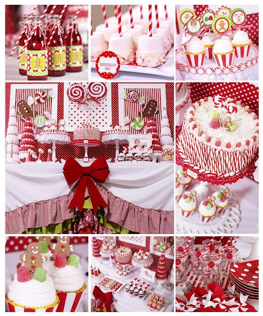 Adorable Christmas party ideas!#Repin By:Pinterest++ for iPad#: Christmas Desserts, Christmas Parties, Christmas Candy, Candy Canes, Parties Ideas, Candyland, Candy Land, Diy Projects, Desserts Tables