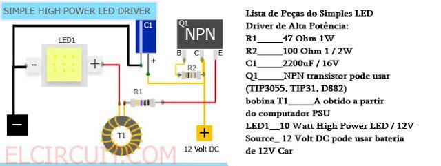 Eletrônica Epaulino: Faça uma lanterna a led de alta potência.