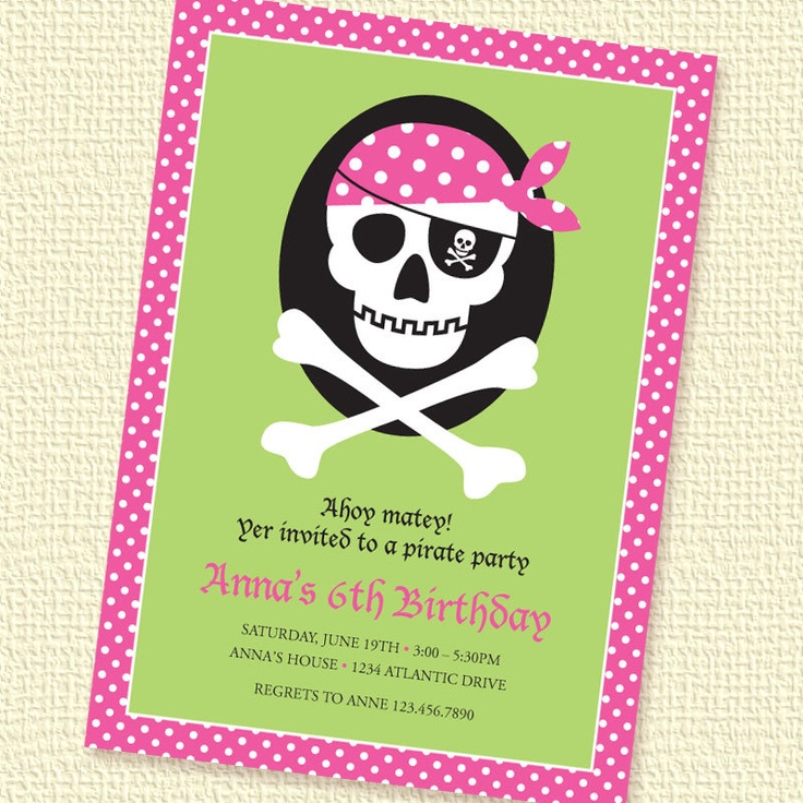 10 best Pirate Party images on Pinterest | Pirate party, Girl ...