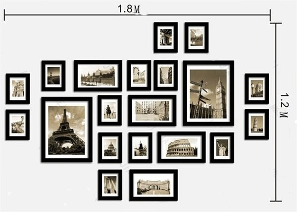 Home Decor Picture Frames Photo Wall Frame Set Collection Set