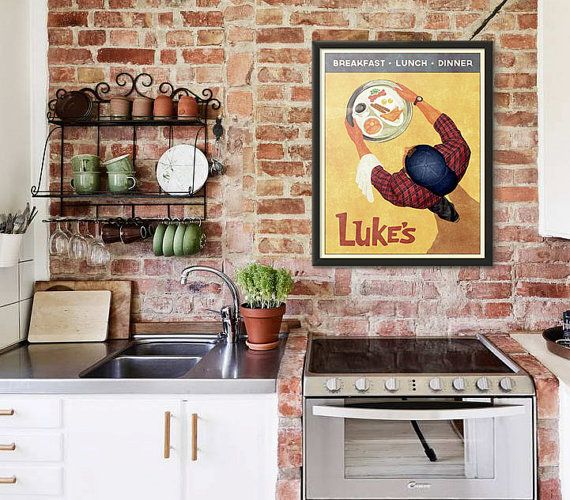 Luke's Diner Vintage Retro Style Poster Inspired by WindowShopGal