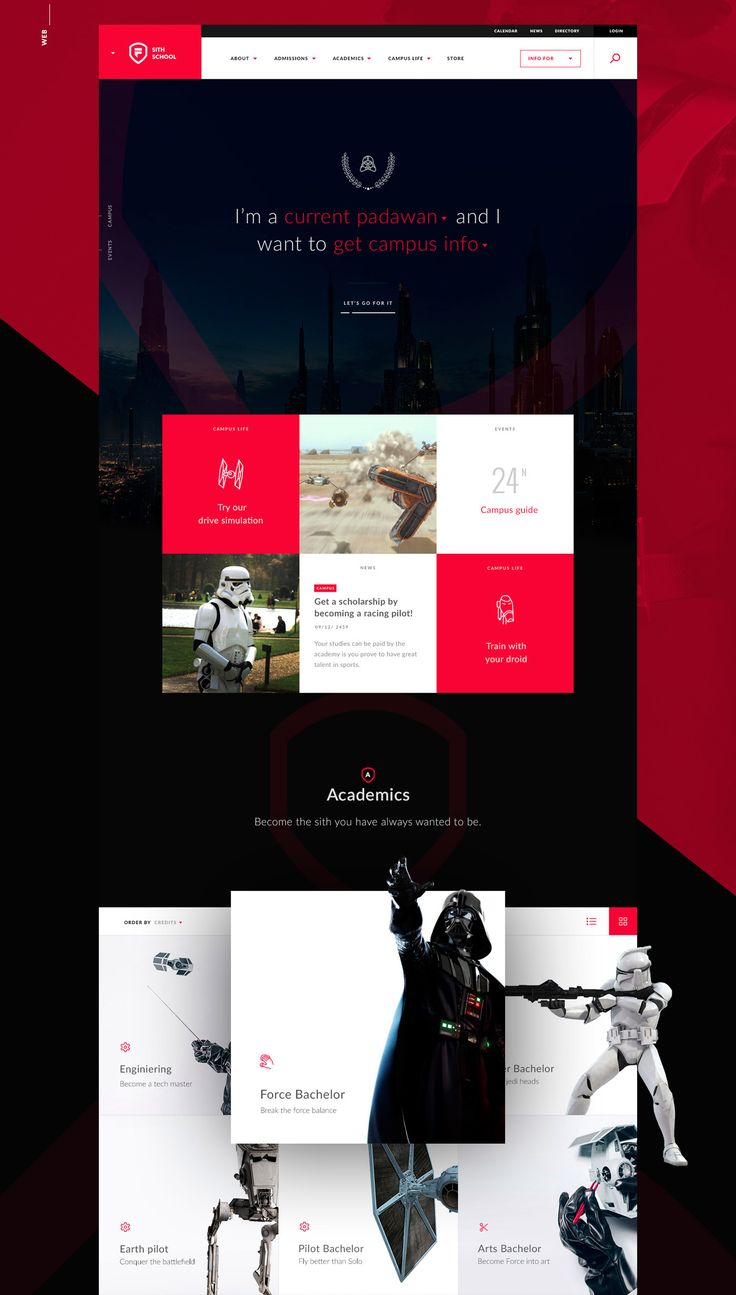 If Jedis & Siths could be able to study in a University...what would happen? This is the result. Brand, Web & Virtual Campus concept created by 3 Star Wars lovers. This is just a concept project. All images used in the presentation belong lo their owner…