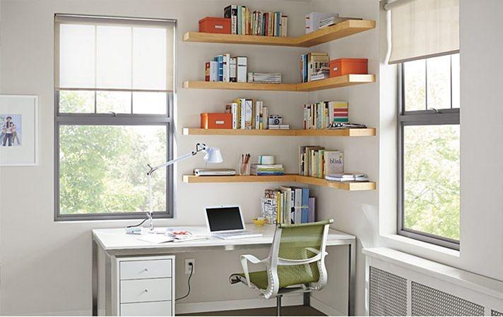 Office corner shelves