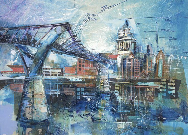Rob Wilson Millennium Bridge Art Cityscapes