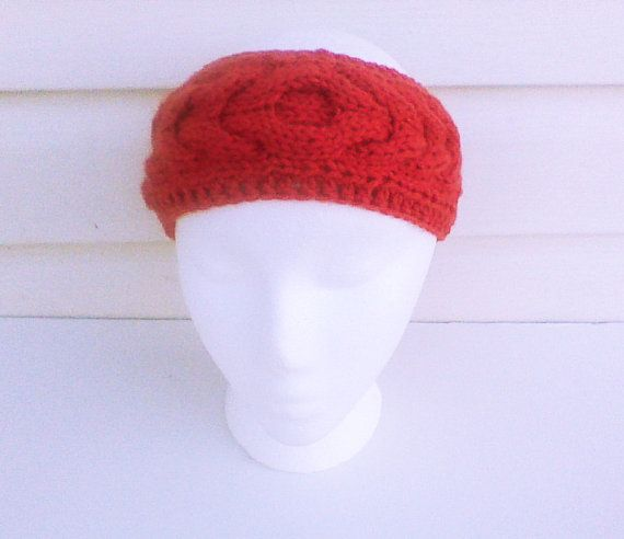 Hey, I found this really awesome Etsy listing at https://www.etsy.com/listing/197674440/red-cable-headband-rouge-headband-knit