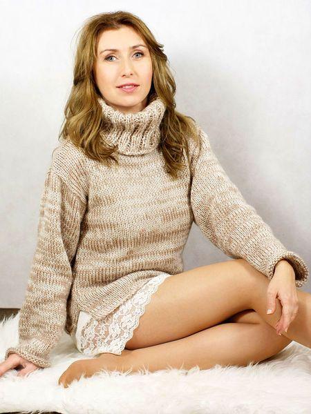 Soft Beige Sweater w Ikat - Knitwear & Accessories na DaWanda.com