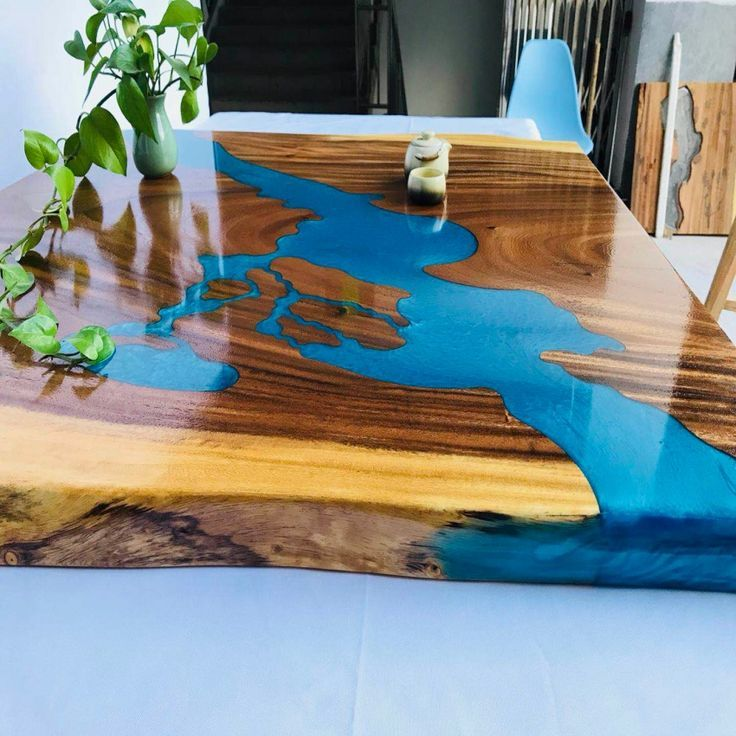 China Wholesale Custom Solid Epoxy Resin Wood Dining Table Buy