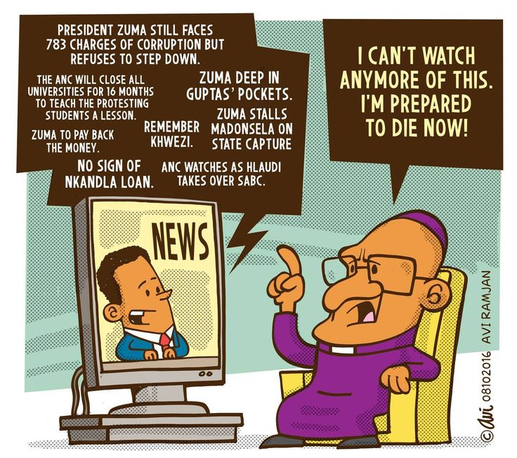 """""""Maybe it's time for me to go"""", says Tutu in Avi's latest cartoon..."""