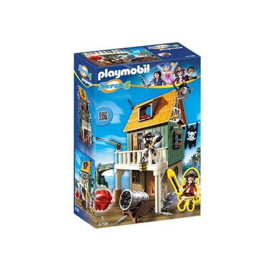 Playmobil Super 4 4796, Kamouflerat piratfort