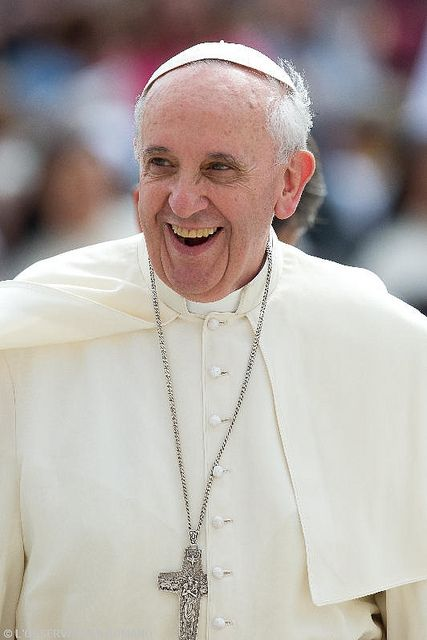 """A Christian is never bored or sad. Rather, the one who loves Christ is full of joy and radiates joy"" ~ Pope Francis"