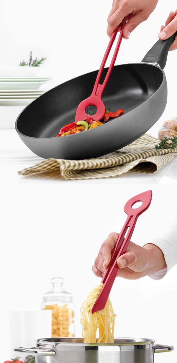 """""""Chef 2"""" es una multi-herramienta para los cocineros. Ofrece dos pinzas de boca ancha y una cuchara, optimizada para ollas de fondo plano. Soporta hasta 220º C. $6,900"""