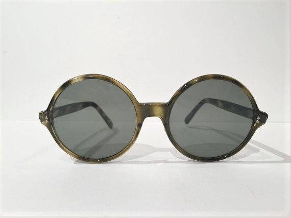 5e357f8173a 60s Brown Tortoise Round Sunglasses