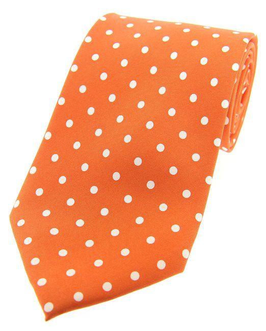 Soprano -  Cravatta  - A pois - Uomo Arancione arancione Taglia unica