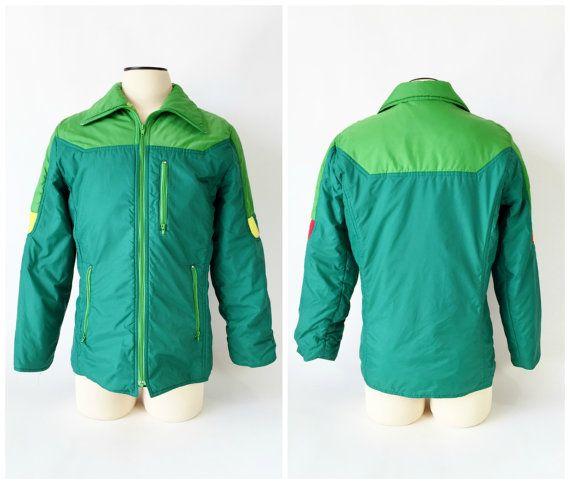 Vintage Men's Ski Jacket  Puffy / 1970's 80's / by fourBvintage