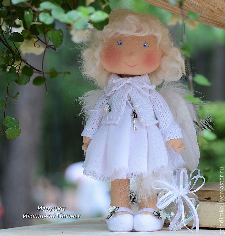 Купить Белла)))) - ангел, ангелочек, белый, кукла ручной работы, кукла, подарок, подарок девушке
