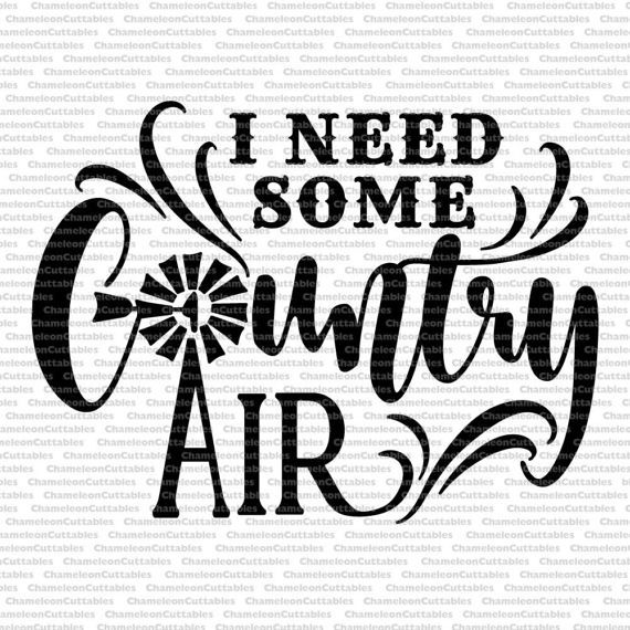 I need some country air svg cut file decal by ChameleonCuttables
