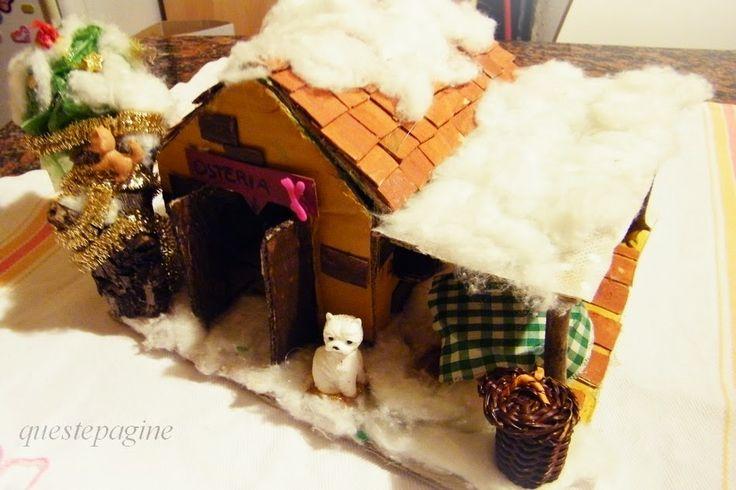 Paesaggio natalizio: osteria