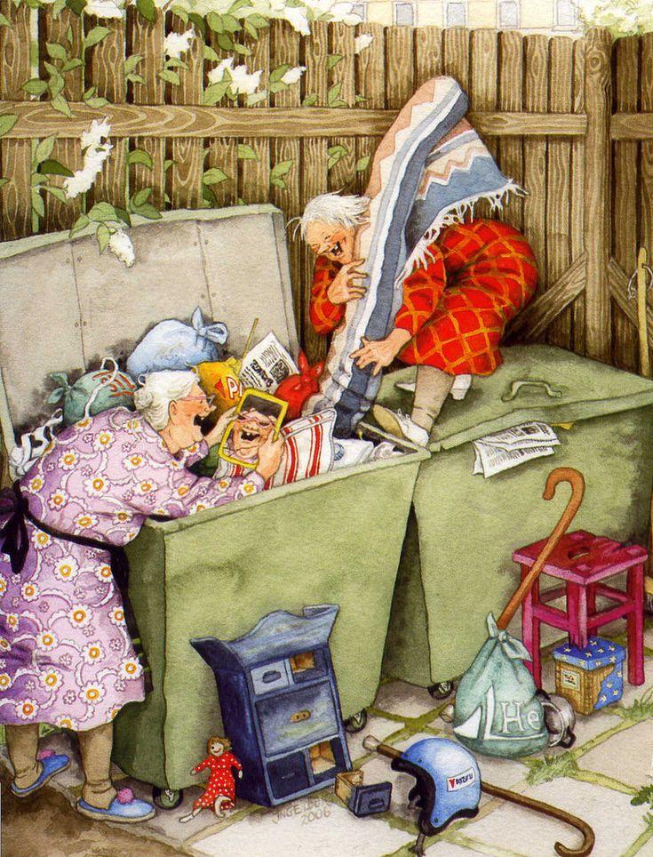 Рождеством анимации, прикольные картинки старушки веселушки