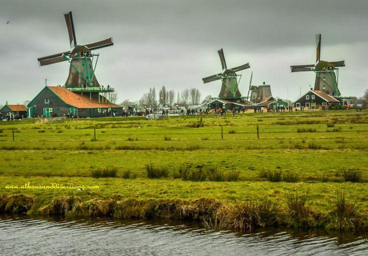 #windmills at #ZaanseSchans #netherlands