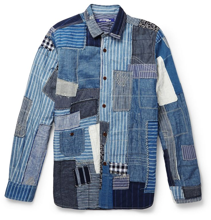 Junya Watanabe Patchwork Denim Shirt Denim Denim Shirt