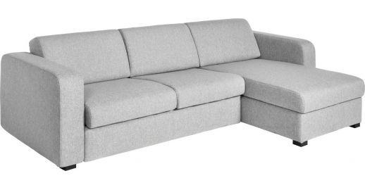 Porto 3 Petit canapé-lit en tissu avec angle réversible et rangement