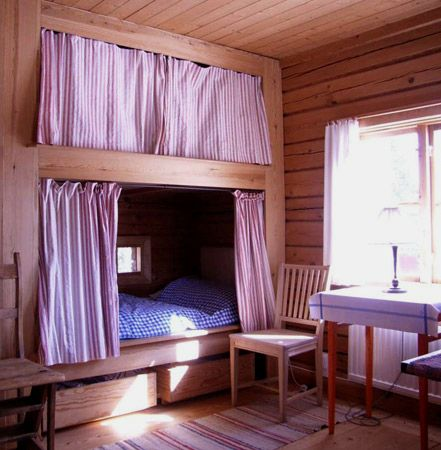 "Old style Swedish bunk bed ""tarrsäng"". Dalecarlia (Dalarna), Sweden."